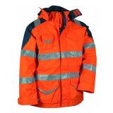 Hola chaqueta a prueba de viento impermeable reflexiva de la seguridad en carretera del Vis con los bolsillos