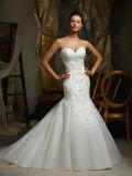 Vestido de casamento nupcial da cinta de espaguete do vestido do laço 2016 elegante
