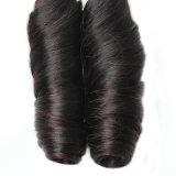 Cabelo humano brasileiro Curly de Remy da mola da forma