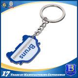 Kundenspezifisches Metallschlüsselkette mit Farbband für förderndes Geschenk (ELE-K124)