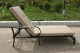 Do Lounger de alumínio do Chaise do revestimento da potência mobília ao ar livre de Sunbed