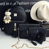 Neues Ankunfts-Großverkauf-Dame Backpack Bag Set mit freien Shouder Handtaschen Fonds und Schlüssel-Halter Sy8229