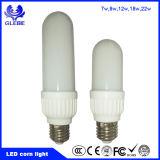 Nuevo tipo de luz de lámpara LED E27 B22 7W LED de 3u 18W de luz de maíz