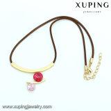 Collar-00358 Moda de oro plateado CZ collar de estrangulación de diamantes