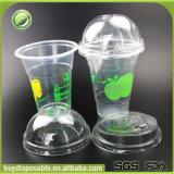 Contenitore a gettare di plastica biodegradabile all'ingrosso del gelato 360ml/12oz