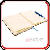 Cahier obligatoire de bonne qualité d'unité centrale cousu par Smyth de cadeau promotionnel avec le Looper de crayon lecteur