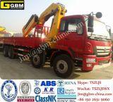 150tトラックの土台クレーン油圧望遠鏡の指の関節ブームのトラックによって取付けられるクレーン