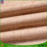Tissu de toile de flocage imperméable à l'eau de rideau en guichet de polyester de tissu de rideau en arrêt total de franc d'enduit