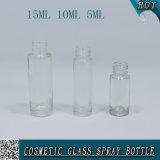 5 ml 10 ml de bouteille de verre à parfum clair avec pompe à lotion