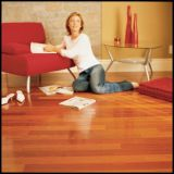 Plancher en bois de jatoba à la couleur naturelle