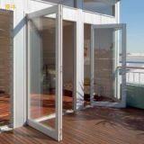Vidrio aluminio vidrio hueco Casement puerta con el estándar de Australia