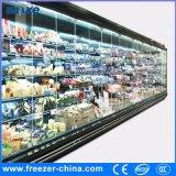 Congélateur en verre de porte d'oscillation commerciale de R404A pour les aliments surgelés utilisés dans le supermarché