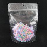 El bolso del papel de aluminio se levanta el bolso de vacío del bolso de la cremallera