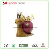 De decoratieve Bloempotten van de Dieren van de Tuin van het Metaal met het Ongehoorzame Ornament van de Kikker