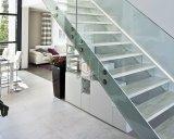 La escalera interior/templó la escalera de cristal moderna con Ce de la ISO