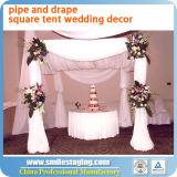 Hochzeits-Dekoration-Rohr und drapieren Hintergrund-Hochzeits-Zelt für Verkauf