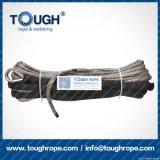 La corda sintetica dell'argano del nero 11mmx30m UHMWPE ha impostato per l'argano 4X4