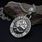 De uitstekende Juwelen van de Manier van het Staal van het Titanium van de Tegenhanger van de Halsband van de Schedel Unisex-