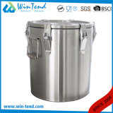 Heet Economisch Type 6 van Roestvrij staal van de Verkoop Container van het Voedsel van de Gesp de Draagbare Geïsoleerde Schuimende voor Vervoer