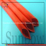 Sleeving elétrico revestido da fibra de vidro da isolação da resina de silicone