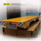 لون صفراء سكك الحديد عرضة مسطّحة مع فولاذ مرفاع عجلات