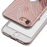 IMD Impression Shock Absorbant Soft Flexible TPU Transparent Skin Scratch-Proof Ultra Slim Case pour iPhone 6 / 6s Plus