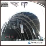 L'armature en aluminium d'étape a courbé l'armature de toit arquée par armature