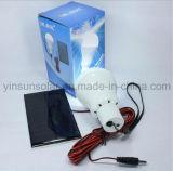 Mini sistema de energía solar para 3W recargable de iluminación LED con panel solar