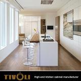 Ktichenの豪華な食器棚Tivo-0192hが付いている上の現代台所食料貯蔵室のキャビネットの単位