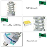 Espiral 9W Las lámparas LED Lámpara de maíz E27 B22 E14.