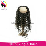 Fashion Remy Brazilian Human Hair 360 Lace Frontal Bondage Closure