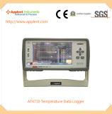 大きいLCD表示(AT4710)が付いている温度のレコーダー