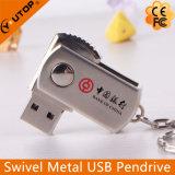 Горячий USB Pendrive шарнирного соединения металла логоса OEM/ODM изготовленный на заказ (YT-1210)