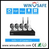 Soporta Android / IOS / PC remoto inalámbrico de seguridad doméstica NVR Kits cámara IP