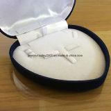 Blauw Vakje 120X125X35mm van de Gift van de Presentatie van de Vertoning van de Juwelen van het Fluweel Vastgesteld Hart