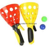 Il gioco di sfera di plastica promozionale della cattura della paletta scherza il giocattolo del gioco della cattura di sfera