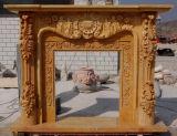 Camino del marmo della mensola del camino del camino di pietra (SK-1580)