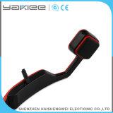 Auscultadores sem fio vermelho da condução de osso de Bluetooth do telefone móvel