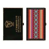 Вышитый случай визитной карточки - покрынное золото - тайваньское аборигенное искусствоо