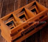 Up-market antigua caja de madera personalizada con forro para el embalaje de joyas