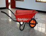 Wheelbarrow plástico da bandeja do mercado de África do Sul (Wb3800)
