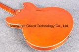 Grand Guitar / 335 Laranja Tiger Maple Top Jazz guitarra eléctrica (TJ-216)