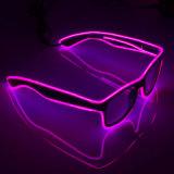 LED-EL-Röhrenblitz beleuchtet Sonnenbrillen