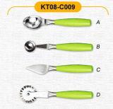 Kitchenwares com alça verde (KT08-C009)