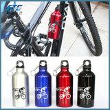 La bicicletta mette in mostra la bottiglia di acqua dell'OEM della bottiglia di sport dell'alluminio della bottiglia
