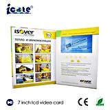 Gebundene Ausgabe 7 Zoll LCD-Videokarte Buiness Karte LCD-videogruß-Karte/Videokarten