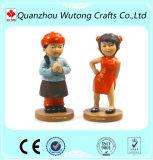 De estilo asiático diversas región figura Polyresin figurita de mascota de recuerdos