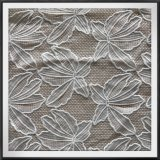 カエデの葉の網の刺繍のレースファブリック
