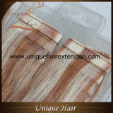 Doppio nastro estratto all'ingrosso di colore del piano nelle estensioni dei capelli