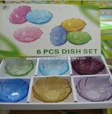 Lastra di vetro di Piuma-Figura di colore solido (P-01)